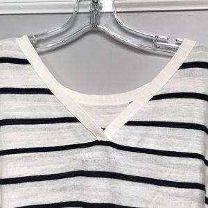 Banana Republic Sweaters - Banana Republic striped sweater with slight V back